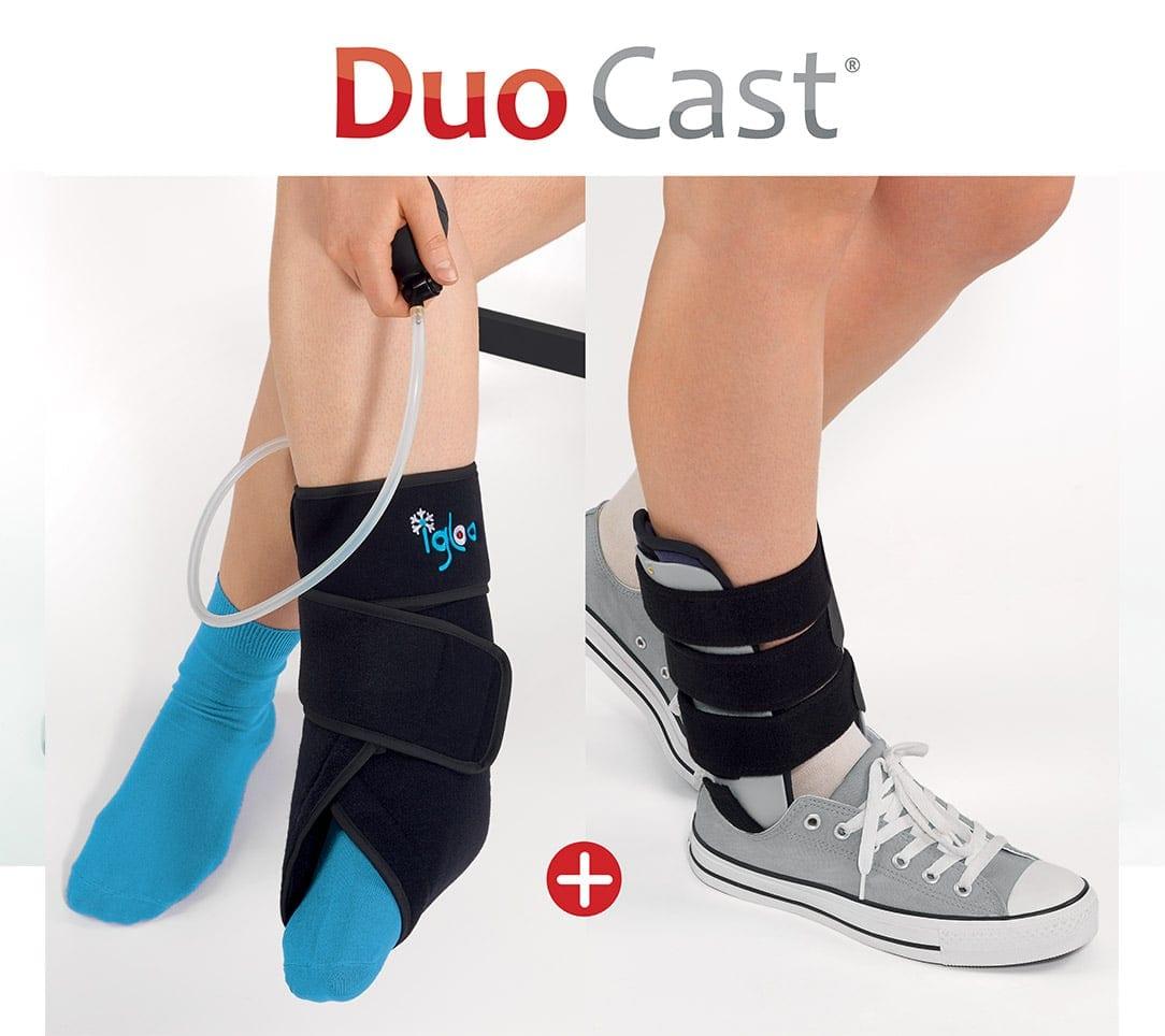 site réputé profiter de prix pas cher acheter en ligne DUO CAST® : chausson de cryothérapie Igloo® + attelle ergonomique